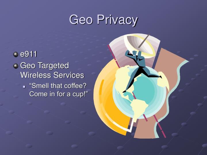 Geo Privacy