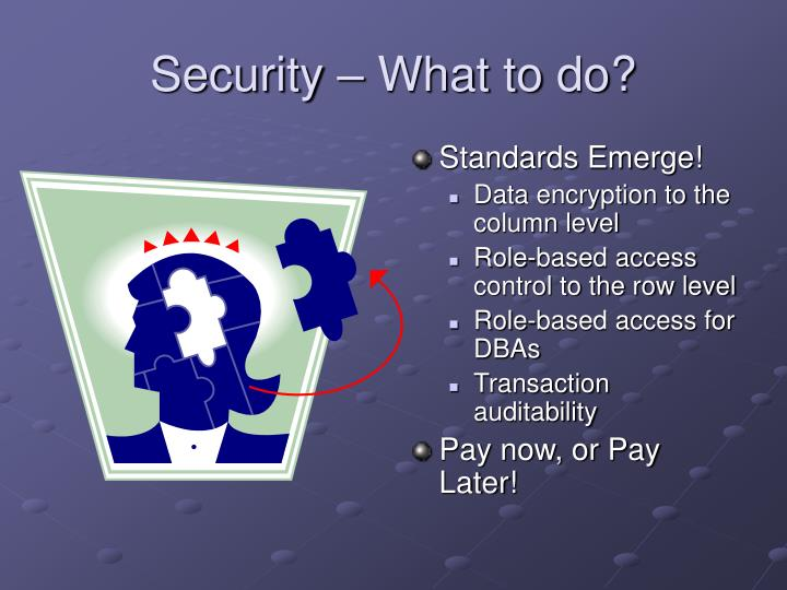 Security – What to do?