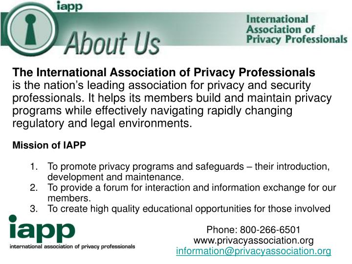 The International Association of Privacy Professionals