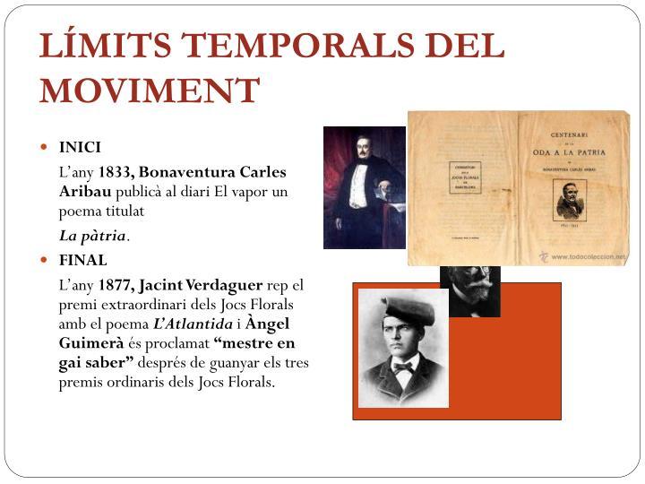 LÍMITS TEMPORALS DEL MOVIMENT