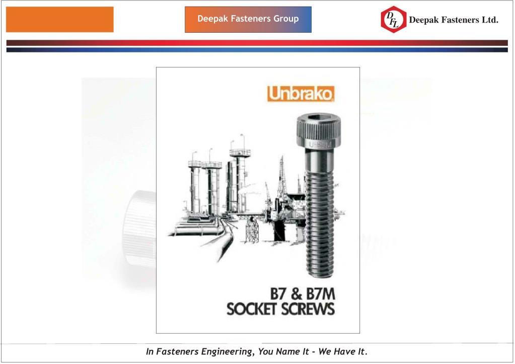 PPT - Deepak Fasteners Group Welcome to Deepak Fasteners Group
