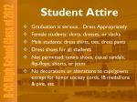student attire