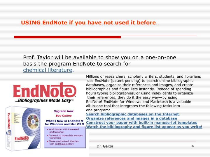 USING EndNote if you have not used it before