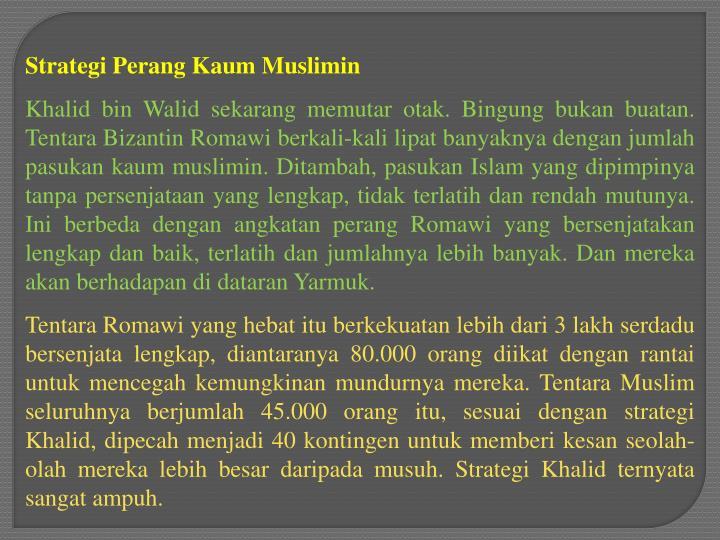 Strategi Perang Kaum Muslimin