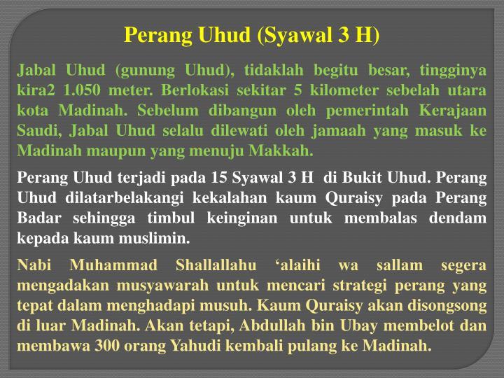 Perang Uhud (Syawal 3 H)
