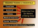 required training credentials