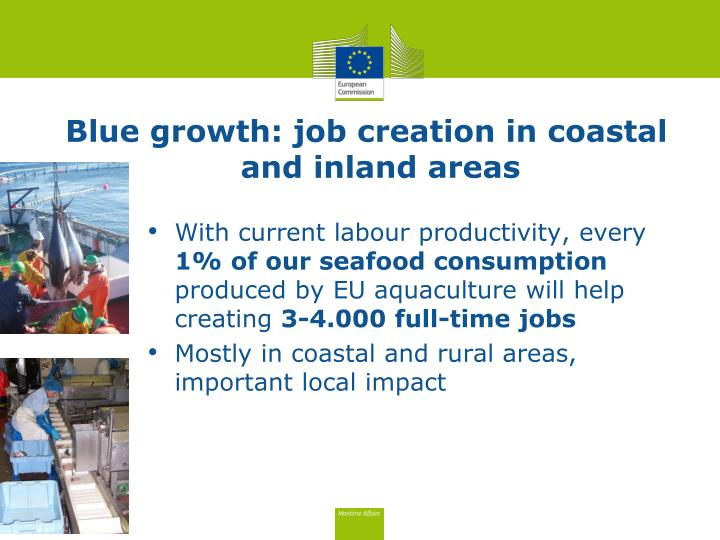 Blue growth: job creation in coastal and inland areas