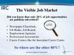 the visible job market