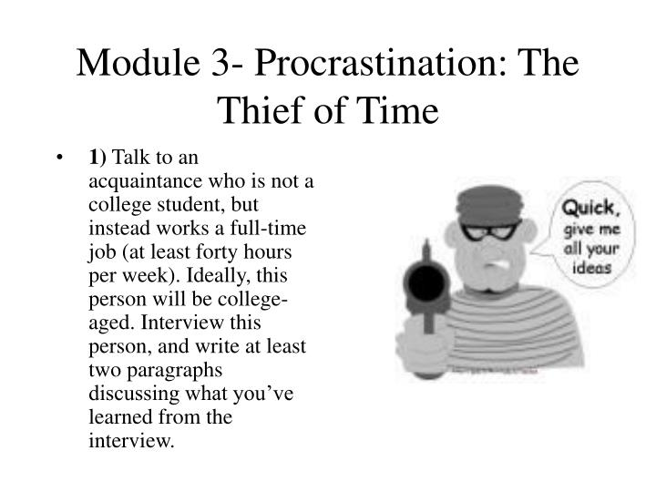 Module 3 procrastination the thief of time