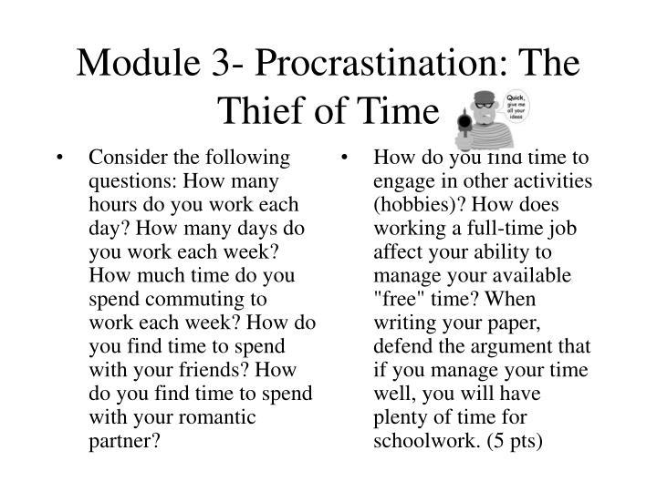 Module 3 procrastination the thief of time1