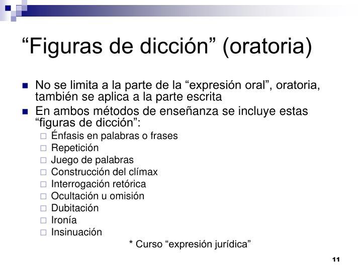 """""""Figuras de dicción"""" (oratoria)"""