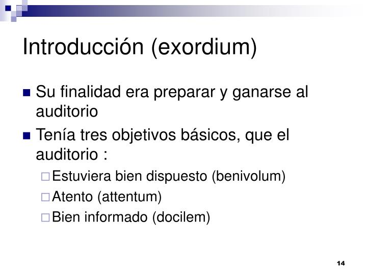 Introducción (exordium)