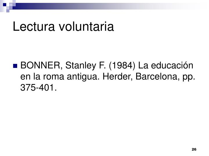 Lectura voluntaria