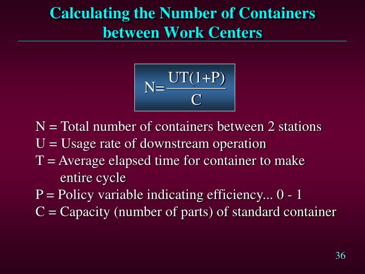 Calculating the Number of Containers