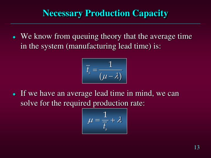 Necessary Production Capacity