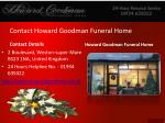 contact howard goodman funeral home