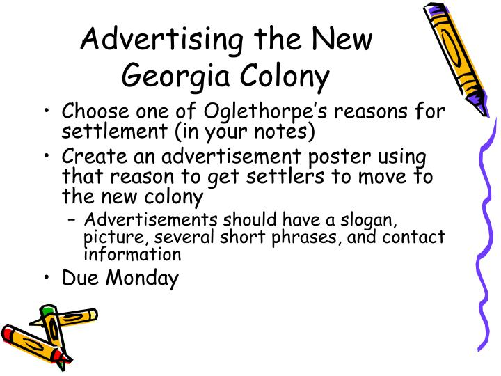Advertising the new georgia colony
