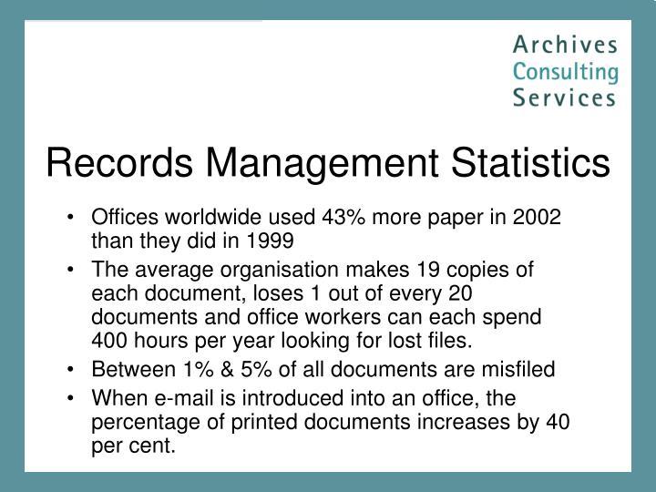 Records Management Statistics