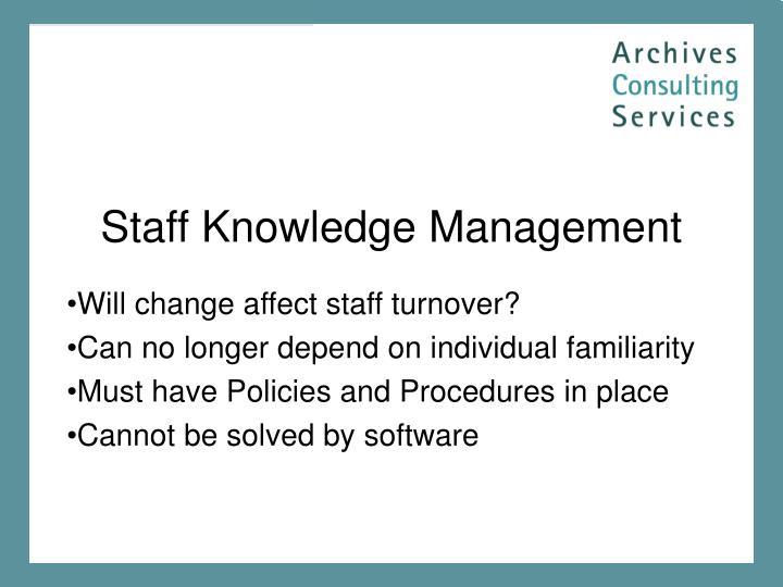 Staff Knowledge Management