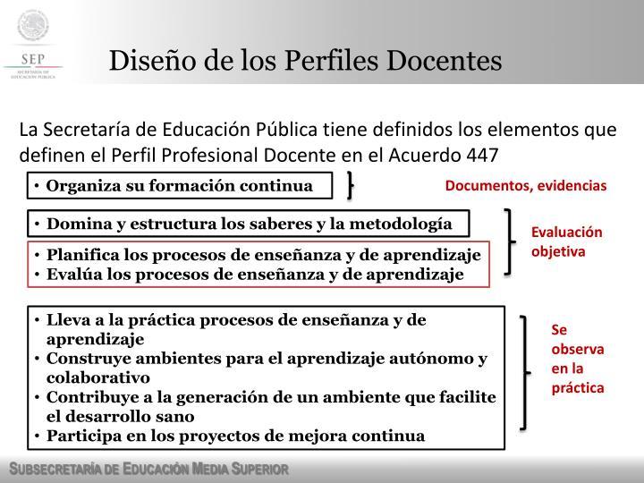 Dise o de los perfiles docentes1
