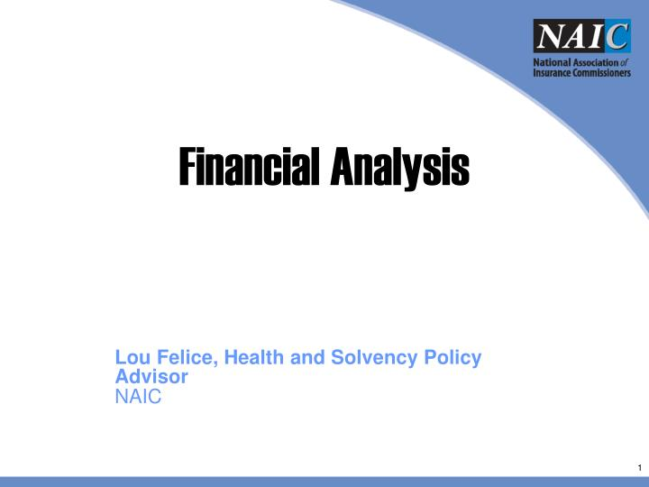 financial analysis n.