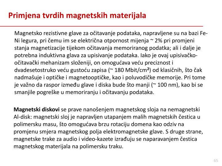 Primjena tvrdih magnetskih materijala