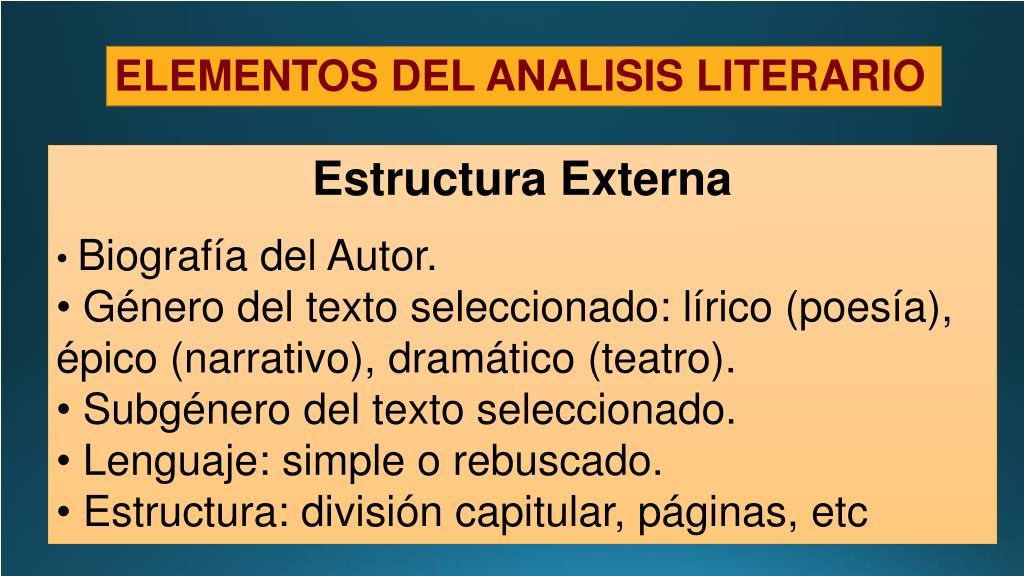 Ppt Análisis Literario Powerpoint Presentation Free