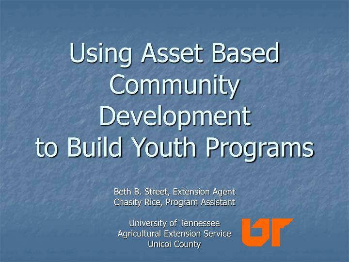 using asset based community development to build youth programs n.