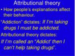 attributional theory