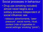 social processes in behaviour