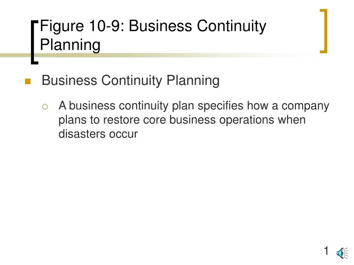 figure 10 9 business continuity planning n.