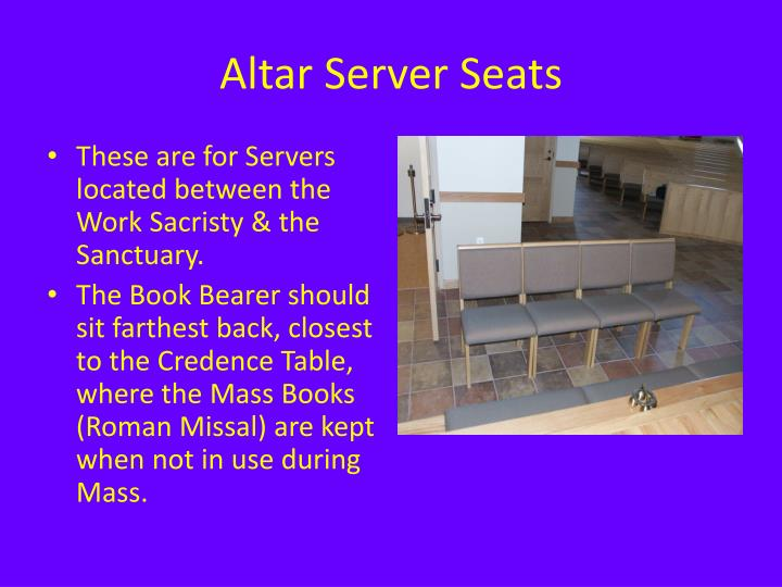 Altar Server Seats