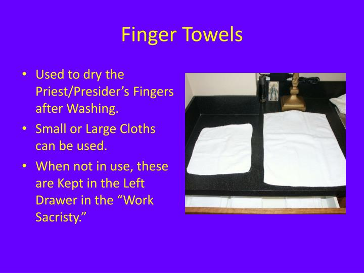 Finger Towels