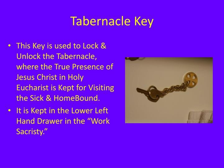 Tabernacle Key