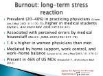 burnout long term stress reaction