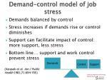demand control model of job stress