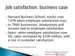 job satisfaction business case
