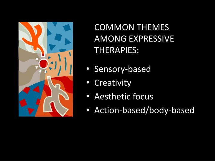 COMMON THEMES AMONG EXPRESSIVE THERAPIES: