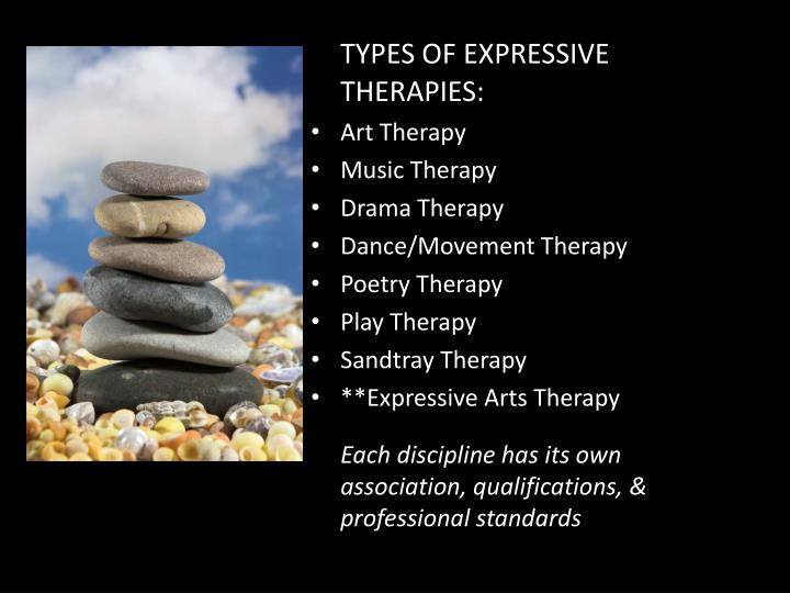 TYPES OF EXPRESSIVE THERAPIES: