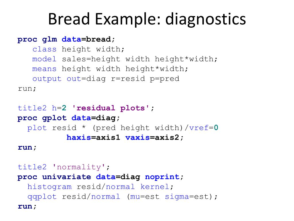 PPT - Bread Example: nknw817 sas PowerPoint Presentation - ID:2959129
