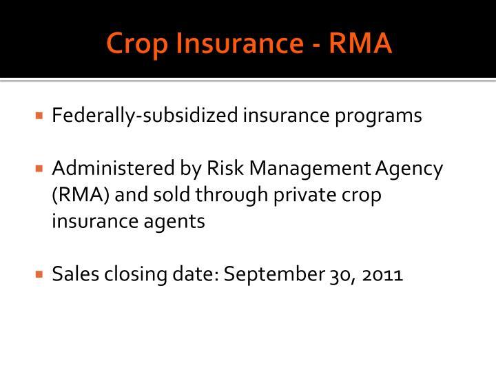 Crop Insurance - RMA