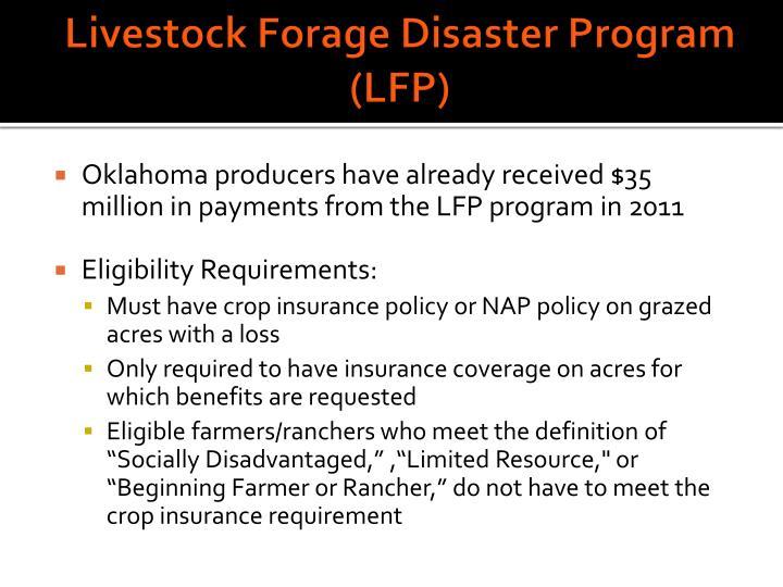 Livestock Forage Disaster Program (LFP)
