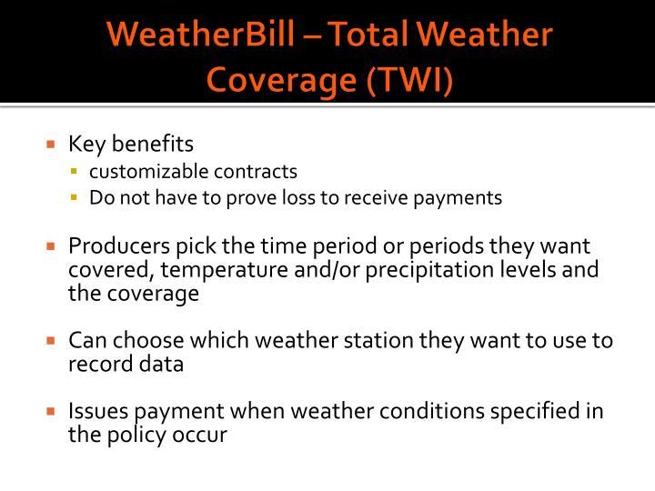 WeatherBill