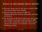 what is reverse repo rate