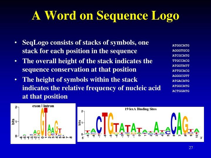 A Word on Sequence Logo