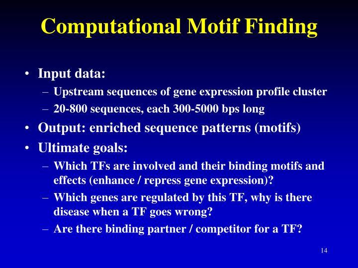Computational Motif Finding