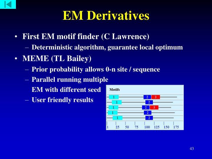 EM Derivatives