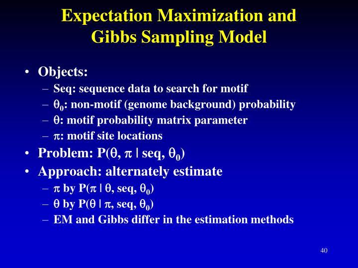 Expectation Maximization and