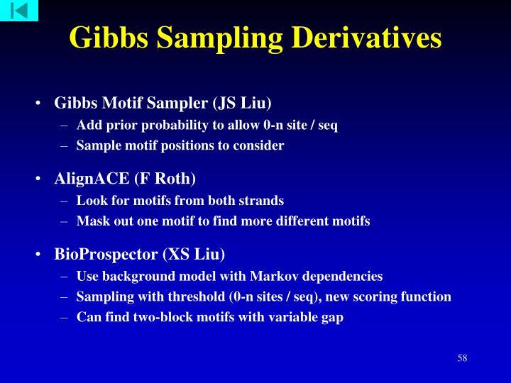 Gibbs Sampling Derivatives
