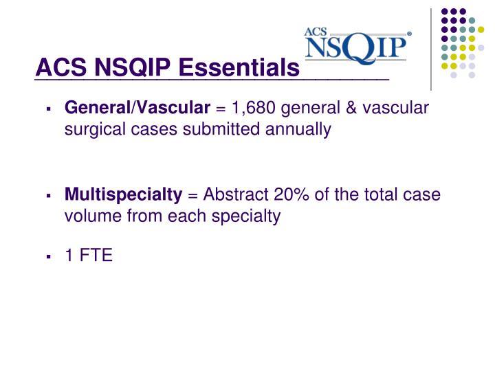 ACS NSQIP Essentials